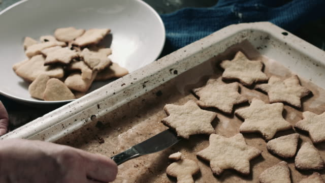 Cooked star shaped pastry video