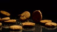 Cookies Falling in Slow Motion video