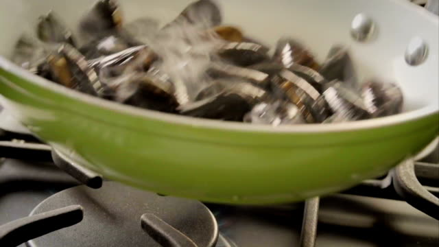 Cooking Blue Mussels Dish video