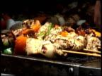Cooking Chicken Kebabs, Kebobs, Kebaps, Kibobs video
