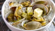Cooking Clam on oven top video