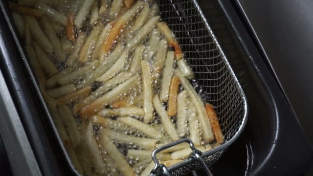 Cooking French fries video