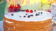 Cooking Fresh-Berry Cake with Kids video