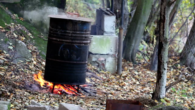 cooking in a barrel video