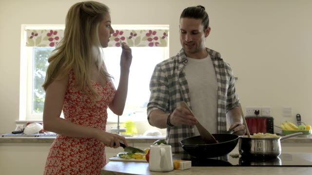 Cooking in their New Home video