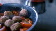 Cooking Meatballs in Frying Pan video
