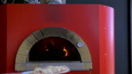 Cooking pizza in stove video