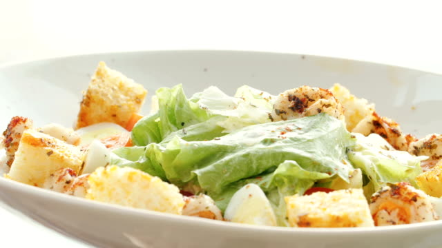 Cooking salad of grapes, cabbage, mozzarella cheese video