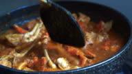 Cooking Singaporean signature dish, Chilli crab. Popular seafood dish video