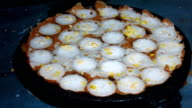 Cooking Thai dessert , Coconut milk mix with powder fried dessert. video