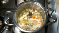 Cooking the Macrourus fish soup video