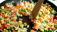 Cooking vegetables video