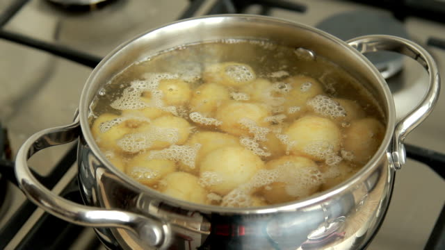 Cooking young potatoes video