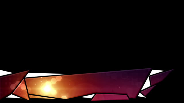 Cool Abstract Lower Third - Hexagonal Sunset (With Alpha/Luma) video