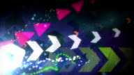 Cool Arrows Background Loop - Retro Rainbow (Full HD) video
