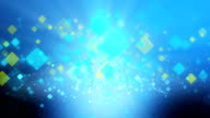 Cool blue and yellow color motion background with animated squares. Light ray beam effect, UHD 4k. video