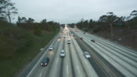 Cool daytime shot of highway traffic video