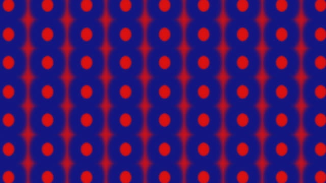 Cool red polka dot background on navy blue video