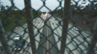 Cool shot of highway traffic in the afternoon from bridge video