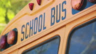 Cool shot of the words 'School Bus' on top of a school bus. video