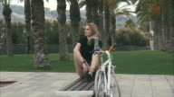 Cool Woman with a Bicycle video