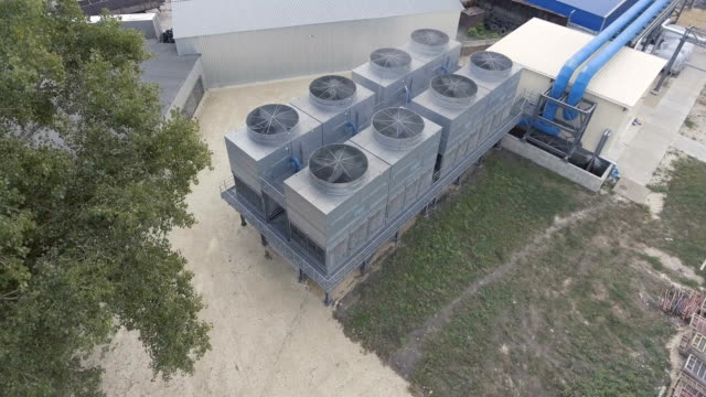 Cooling tower at outdoor video