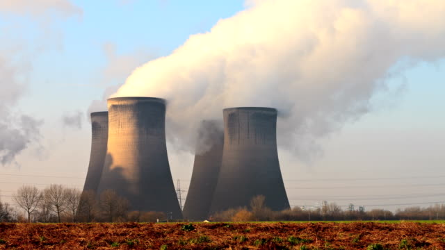Cooling towers, Fiddlers Ferry, England video