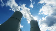 Cooling Towers Of Coal Power Station video