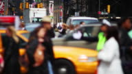 NYC cop directing traffic at a manhattan intersection video