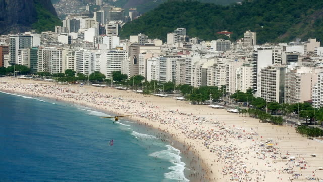 Copacabana Beach - advertising in the plane video