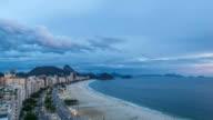 Copacabana Beach at sunset in Rio De Janeiro, Brazil video