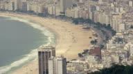 Copacabana beach in Rio de Janeiro from above video