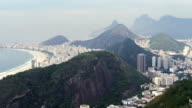 Copacabana beach towards Flamengo area in Rio de Janeiro video