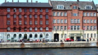 Copenhagen Canal with people in summer video