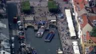 Copenhagen - Nyhavn  - Aerial View - Capital Region, Denmark video