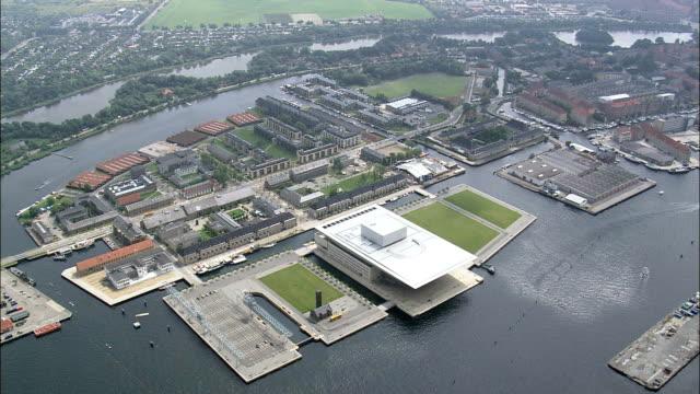 Copenhagen - Opera House  - Aerial View - Capital Region, Denmark video