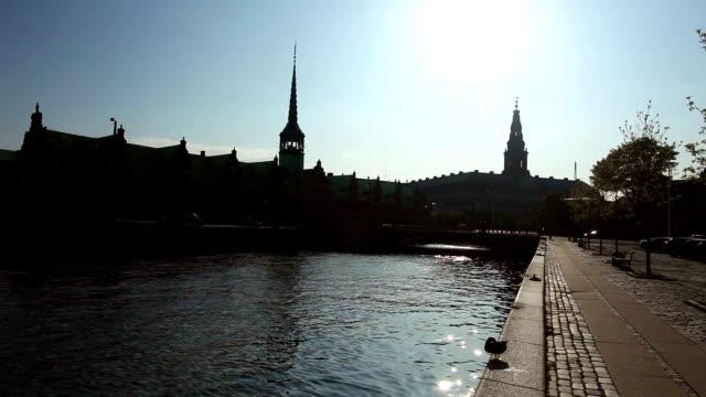 Copenhagen Stock Exchange - against the light video