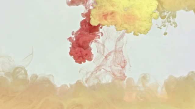 Copper and Yellow Ink in Water video