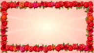 Copy Space Frame - Growing Organic Title with Roses video