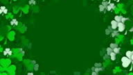 Copy Space, Shamrocks Zooming by, for Saint Patrick's Day (Loopable) video