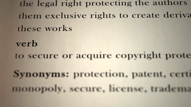 Copyright Definition video