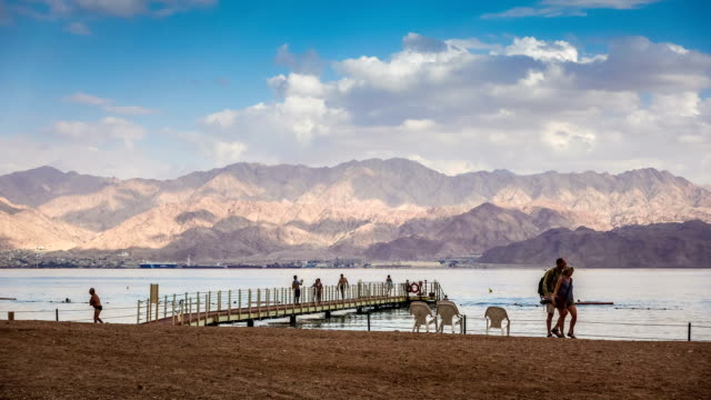 Coral Beach Nature Reserve over Red Sea in Eilat, Israel video
