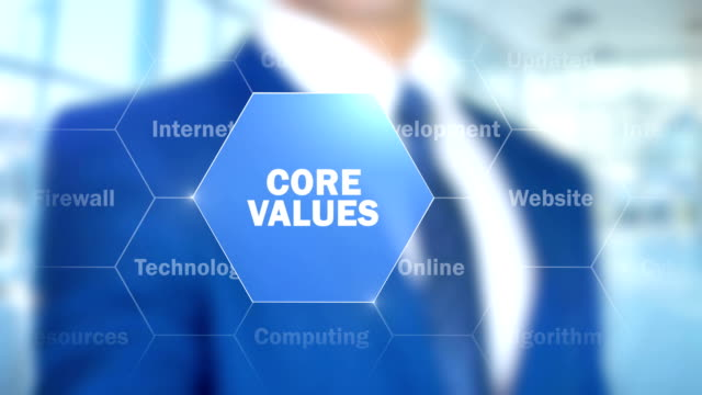 Core Values, Man Working on Holographic Interface, Visual Screen video