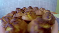 Corn Bread Muffins Golden Brown and Ready to Eat video