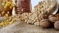 Corn Grains Falling video