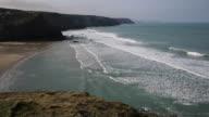Cornwall coast Porthtowan near St Agnes England UK video