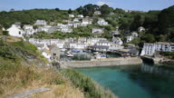 Cornwall England UK beautiful harbour and fishing village of Polperro video