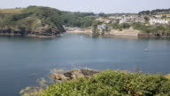 Cornwall River Fowey entrance and coast from Polruan England near St Austell video
