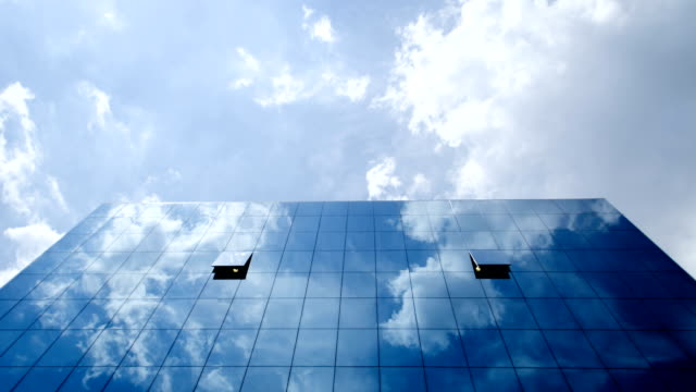 Corporate Building Clouds Timelapse video