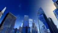 Corporate buildings camera pan. video